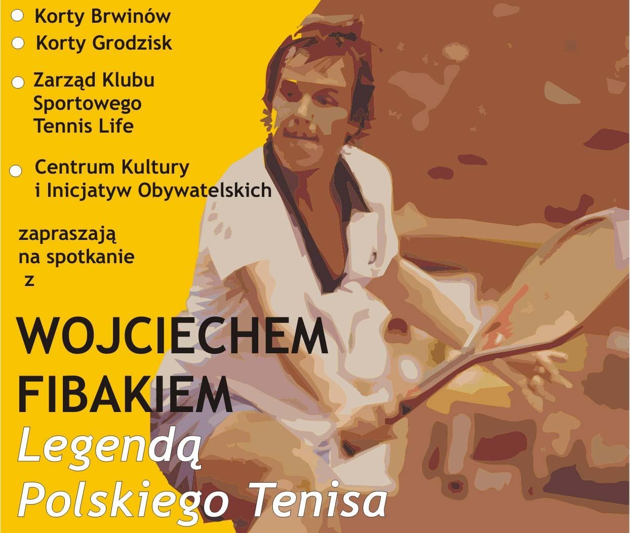 Spotkanie z Wojciechem Fibakiem – legendą polskiego tenisa