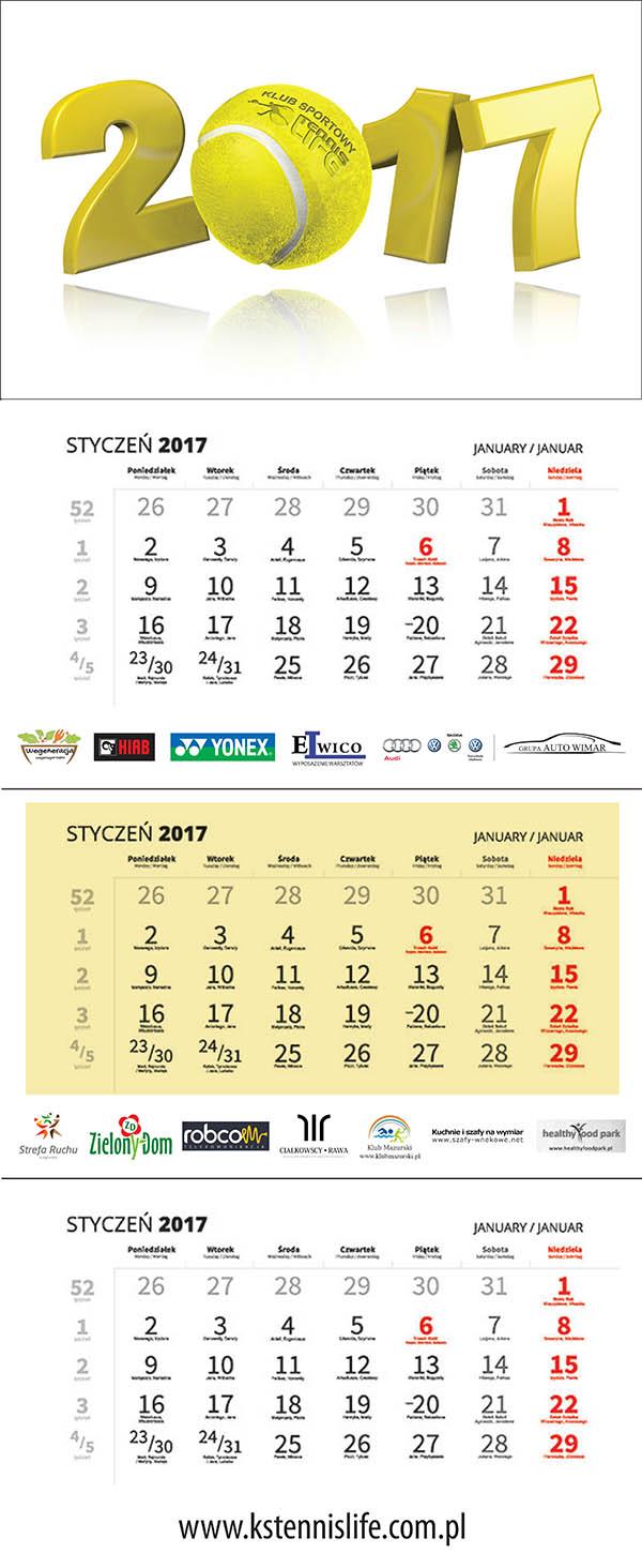 kalendarz KS Tennis Life 1
